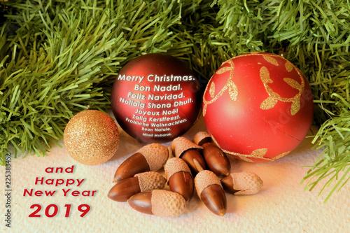 Feliz Navidad Joyeux Noel 2019.Feliz Navidad En Idiomas Distintos Stock Photo And Royalty