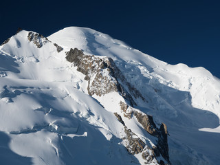Peak of Mont Blanc in the French Alps