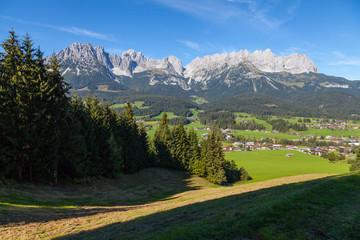 Wilder Kaiser bei Going, Österreich
