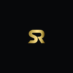 Abstract Minimal Letter SR Logo Design Using Letters S and R in a Unique Way