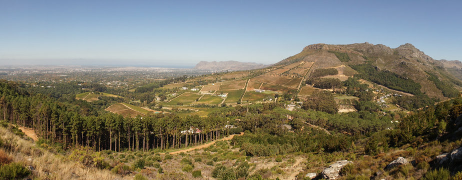 Constantia Nek Hiking Trek in the Table Mountains near Cape Town, South Africa.