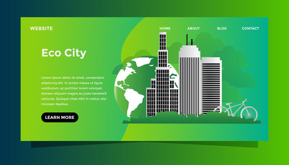 Eco city concept web illustration
