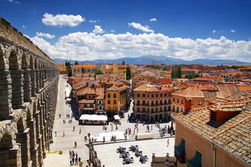 Architecture of Segovia medieval city, Spain, Europe