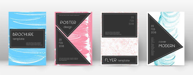 Cover page design template. Black brochure layout. Beautiful trendy abstract cover page. Pink and bl
