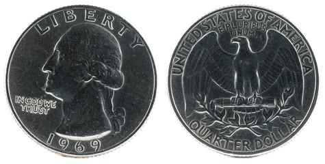 United States Coin. Quarter Dollar 1969.