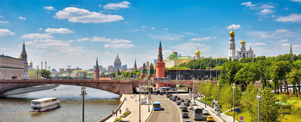 Panoramic view of Moscow with Kremlin, Russia
