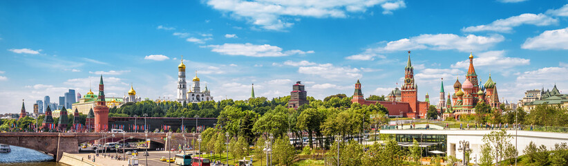 Fototapete - Beautiful panoramic view of Moscow Kremlin, Russia