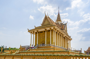 Main temple in the Vipassana Dhura Buddhist Meditation Center in Oudong, Cambodia's former capital