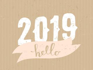 2019 Typographic Design Card