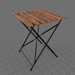 Wood bistro table