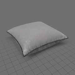 Flat piped edge pillow