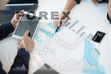 Forex trading, Online investment. Business, internet and technology concept.