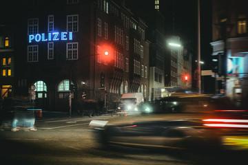Davidwache Hamburg St. Pauli Reeperbahn Kiez Police Action Crime
