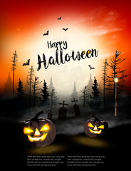 Holiday Halloween Spooky background. Vector