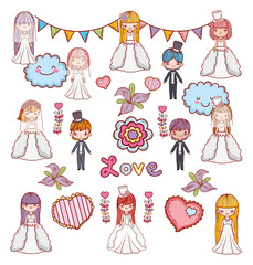 girls and boys couple marriage celebration
