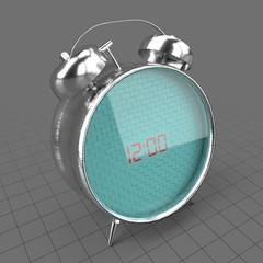 Retro digital alarm clock
