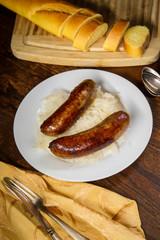 German Bratwurst Sauerkraut