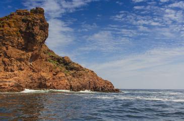 Rock formation in the atlantic ocean