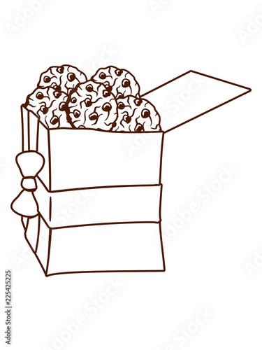 Geschenk Box Paket Geburtstag Weihnachten Winter Platzchen Viele