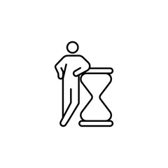 deadline, hourglass icon. Element of conceptual figures for mobile concept and web apps illustration. Thin line icon for website design and development, app development
