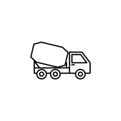 cement mixer icon. Element of construction machine icon for mobile concept and web apps. Thin line cement mixer icon can be used for web and mobile
