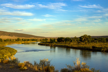 The Green River flows through Browns Park National Wildlife Refuge, a wild, beautiful, remote area of mountains, prairies, and wetlands in the extreme northwest corner of Colorado