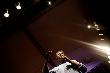 Brazil's Workers Party presidential candidate Fernando Haddad attends a rally in Rio de Janeiro