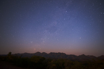 Starry sky over Flinders Ranges