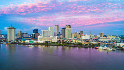 Downtown New Orleans, Louisiana, USA Skyline Aerial Fotomurales