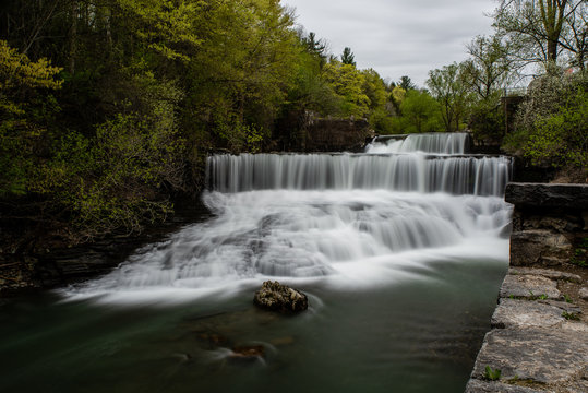 Long Exposure Waterfall - Seneca Mills Falls - New York