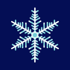 Vector abstract snowflake on a blue background