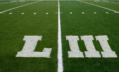 Football Field LIII Yard Line