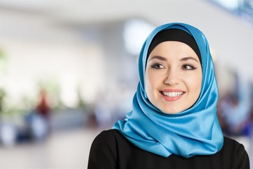 Portrait of Confidence Muslim woman