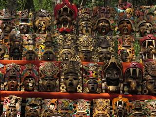 Mexican ceramic masks