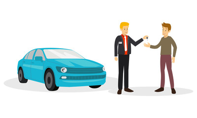 Customer are agree to salesman to buy car are he sell