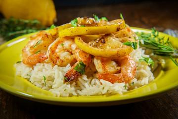 Lemon Shrimp Rice