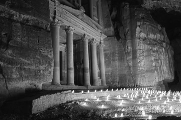 Petra At Night With Candles