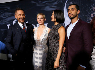 "Cast members Hardy, Williams, Slate and Ahmed attend the premiere for the movie ""Venom"" in Los Angeles"