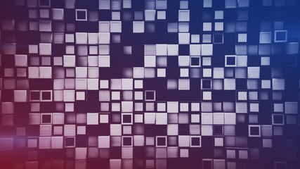Wall of 3D boxes abstract geometric background