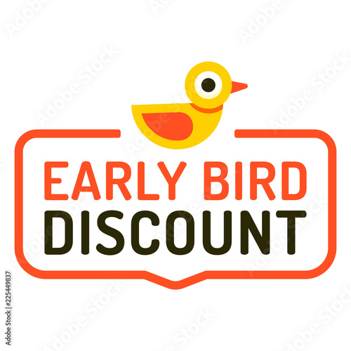 Early bird discount  Badge icon  Vector illustration on