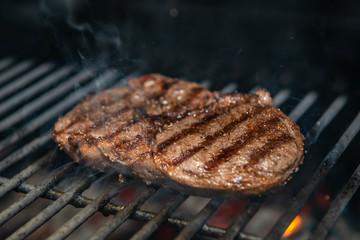 Steak Ribeye Being Prepared in Josper