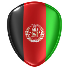 3d rendering of an Afghanistan flag icon.