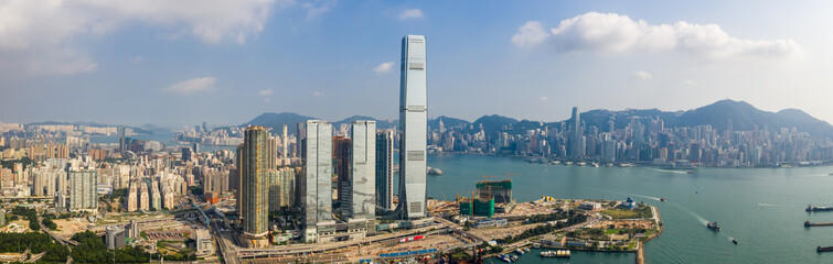 Fototapete - Hong Kong city, panoramic shot