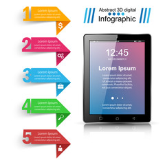 Digital gadget, smartphone tablet icon. Business infographic. Vector eps 10