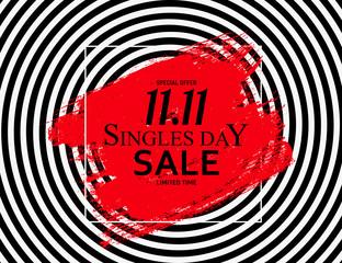 November 11 Singles Day Sale. Vector Illustration