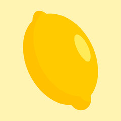 Lemon icon. Flat illustration of lemon vector icon for web design