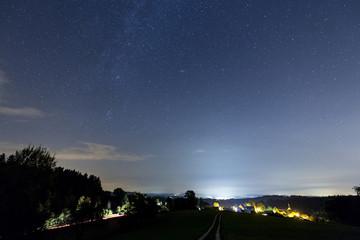 Sterne und Milchstraße bei Langenrain am Bodensee