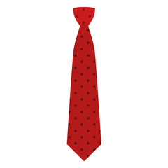 Red tie icon. Flat illustration of red tie vector icon for web design