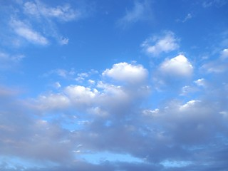 photo of blue sky with light bright cloud during summer