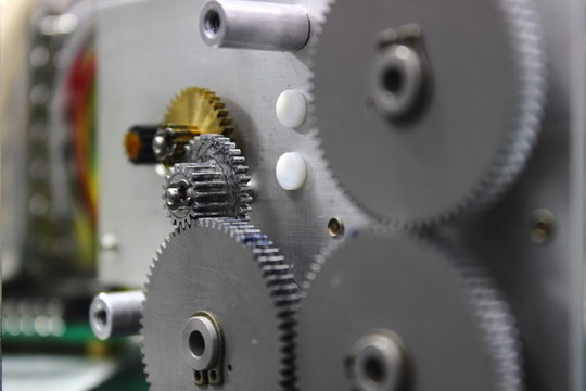 Gear and cogs installed in servo motor ,part of the Direction Gyro